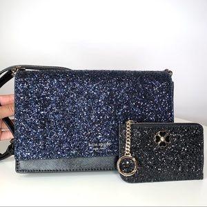 Kate Spade Glitter Convertible Cameron Bag Set